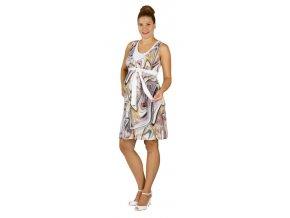 Těhotenské a kojící šaty Rialto Laarne barevná kolečka 0513 (Dámská velikost 36)