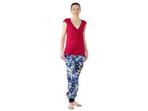 Těhotenské a kojící tričko Rialto Dery červené 0441 (Dámská velikost 34)