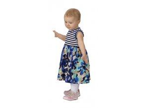 Dětské šaty Rialto UNNA pruh+květy 0215