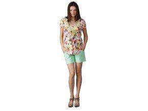 Těhotenské šortky Rialto Son zelené 1933 (Dámská velikost 36)