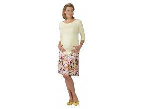 Těhotenská sukně Rialto BRIE barevné květy 1632