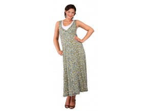 Těhotenské a kojící šaty Rialto Longlier tyrkysový puntík 0258 (Dámská velikost 38)