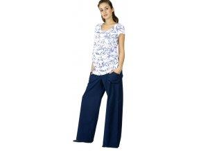 Těhotenské kalhoty Rialto Bonifacio modré 19173 (Dámská velikost 36)