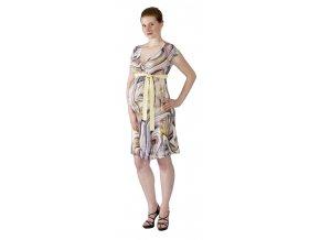 Těhotenské a kojící šaty Rialto Larochette barevná kolečka 0513 (Dámská velikost 36)