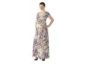 Těhotenské a kojící šaty Rialto Lonchette barevná kola 0513 (Dámská velikost 34)