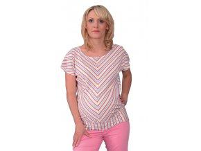 Těhotenské tričko Rialto Court růžový proužek 0267 (Dámská velikost 36)