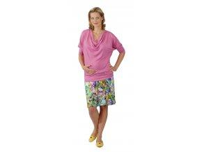 Těhotenské tričko Rialto River růžové 0360 (Dámská velikost 36)