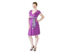 Těhotenské a kojící šaty Rialto Larochette fialová 0271 (Dámská velikost 38)