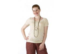 Těhotenské tričko Rialto Dippach béžové 0110 (Dámská velikost 36)