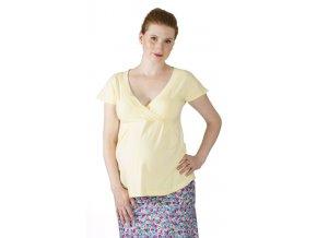 Těhotenské tričko Rialto Doncols žluté 0065 (Dámská velikost 36)