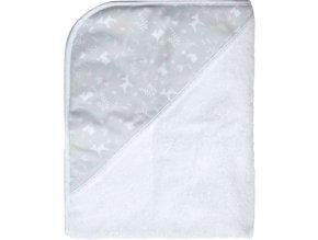 Dětský froté ručník s kapucí a měkkými lemy B3010119