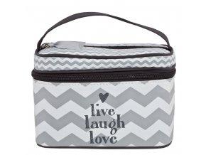 Beautycase kosmetická taška s odepínacím víkem Bébé-Jou Chevron Grey
