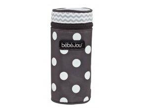Pouzdro na lahvičku Bébé-Jou Grey Dots šedý puntík