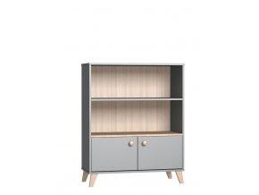 Polouzavřená skříňka COLETTE grey