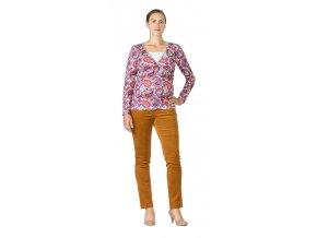 Těhotenské manšestrové kalhoty Rialto Steiny rezavé 4937 (Dámská velikost 36)