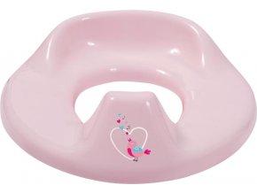 Sedátko na WC Bébé-Jou Sweet Birds růžové