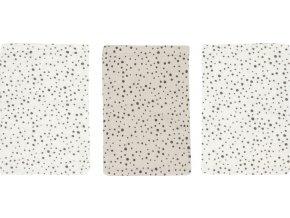 Sada tří béžových hydrofilních mycích žínek Bébé-Jou Fabulous Dots