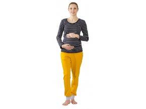 Těhotenské tepláky Rialto Signy hořčicové 0547 (Dámská velikost 36)