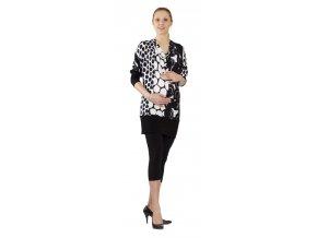 Těhotenské tričko Rialto Rivera černobílé kruhy 0543 (Dámská velikost 36)