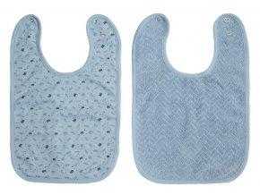 Sada dvou luxusních brydáčků z froté a úpletu v modré barvě.