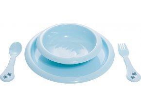 Jídelní souprava Bébé-Jou Dinky World modrá