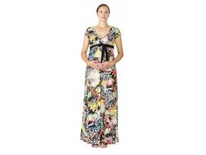 Těhotenské a kojící šaty Rialto Lonchette oranžovozelené 0532 (Dámská velikost 38)
