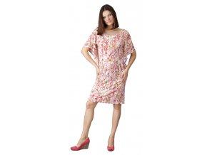 Těhotenské šaty Rialto Loupy vzor s flitry 0384 (Dámská velikost 36)