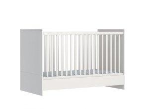 Variabilní dětská postýlka přestavotelná na postel junior Nemo white 140x70