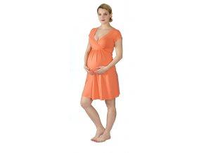 Těhotenská a kojící noční košile Rialto Gochett oranžová 0067