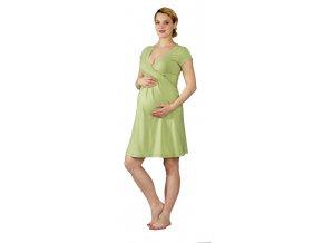 Těhotenská a kojící noční košile Rialto Gochett zelená 0055