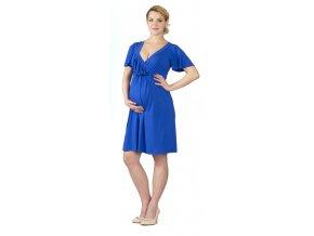 Těhotenské a kojící šaty Rialto LAroka modré 0442 (Dámská velikost 36)