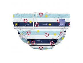 Modré kojenecké plavky velikost L 9-12 kg swim nappy all aboard