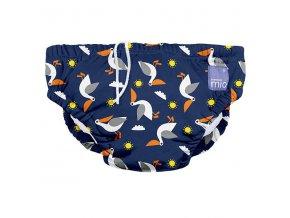Modré kojenecké plavky velikost L od 9 do 12kg swim nappy pelican pier