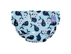 modré kojenecké plavky velikost L od 9 do 12 kg swim nappy whale wharf