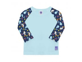 koupací tričko s rukávem UV50+ velikost 12-15kg swim rash top nautical