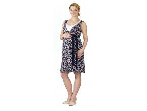 Těhotenské a kojící šaty Rialto Laarne modrošedý vzor 0536 (Dámská velikost 36)