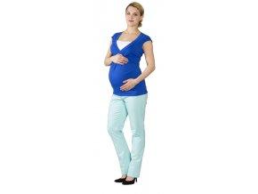 Těhotenské a kojící tričko Rialto Dery kobalt modrá 0442 (Dámská velikost 36)