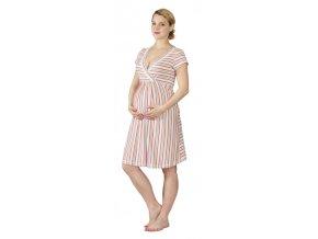 Těhotenská a kojící noční košile Rialto Gochett pruhovaná 0267