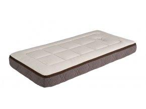 Latexová matrace s bezpečnostním rámem a přírodním potahem do dětské postýlky 120x60 cm, výška 12 cm, my baby mattress MÜU
