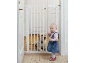 Vysoká zábrana Babydan Premier PET GATE 73-80 cm bílá