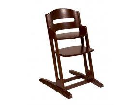 Dřevěná jídelní židlička BabyDan DanChair WALNUT