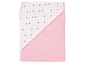 Dětská froté osuška s kapucí LUMA - Pretty Pink