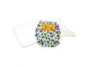 Sada svrchních plenkových kalhotek Raccoon retreat a bavlněné plenky Bambino Mio pro vyzkoušení  TPMS RAC