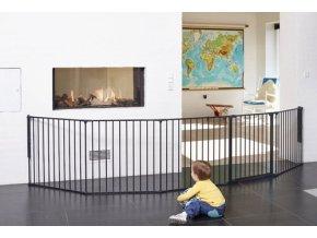 Černá dětská prostorová zábrana OLAF XXX 90-350 cm