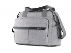 Prostorná přebalovací taška ke kočárku dual bag silk greyAX91M0SLG