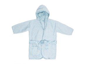 Modrý hřejivý župánek pro kojence Bébé-Jou Leopard BlueB3016122 01