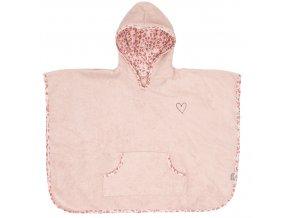 Růžové dětské froté pončo Bébé-Jou Leopard PinkB3017123
