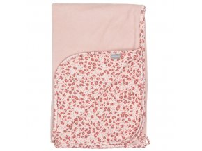 Růžový pléd využijete jako deku, zavinovačku, přikrývku nebo i přebalovací podložku.
