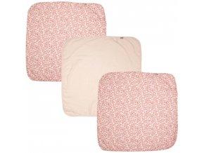 Sada tří růžových mušelinových plen z bambusu Bébé-Jou Leopard Pink