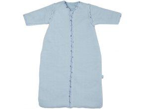 Světle modrý zimní spací pytel pro miminka s odepínacími rukávy Bébé-Jou Fabulous Hero 70cm
